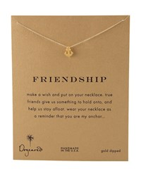 Friendship Anchor Pendant Necklace Dogeared Gold
