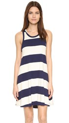 Sol Angeles Rugby Stripe Flounce Dress Natural