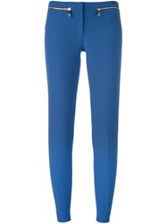 Versace Collection Low Waist Slim Fit Trousers Blue