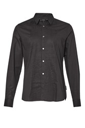 French Connection Men's Polecats Pleated Shirt Black