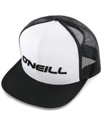 O'neill Men's Challenged Embroidered Logo Trucker Hat White