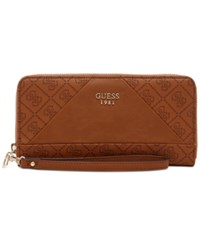Guess Cammie Large Zip Around Wallet Cognac