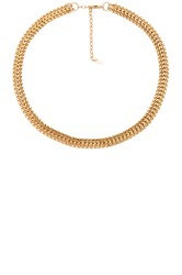 Joolz By Martha Calvo Double Curb Chain Choker Metallic Gold