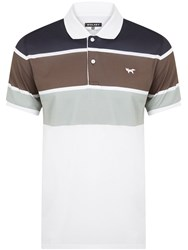 Wolsey Three Colour Stripe Polo Black