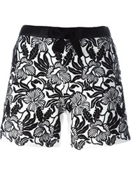Moncler Embroidered Shorts White