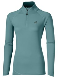 Asics Running Long Sleeve Half Zip Jersey Top Blue