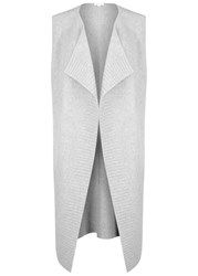 Duffy Grey Sleeveless Cashmere Blend Cardigan