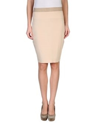 Brian Dales Knee Length Skirts Beige