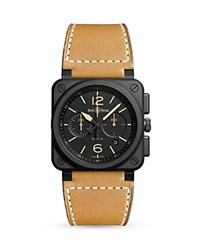 Bell And Ross Br 03 94 Heritage Ceramic Chronograph 42Mm Black Tan