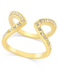 Inc International Concepts Gold Tone Pave Crystal Open Style Ring Only At Macy's