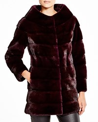 Maximilian Grooved Mink Coat Bloomingdale's Exclusive