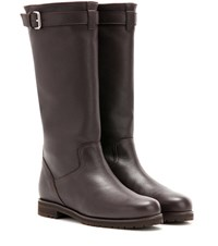 Loro Piana Flatey Leather Boots Brown