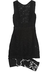 Michael Van Der Ham Crystal Embellished Lace And Boucle Dress