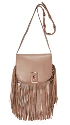 Botkier Clinton Fringe Saddle Bag Chai