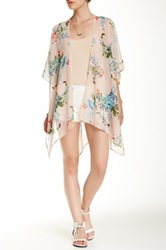 Daniel Rainn Print Bed Jacket Pink