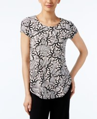 Alfani Floral Print T Shirt Only At Macy's Blush Combo