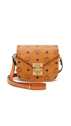 Mcm Mini Patricia Saddle Bag Cognac