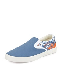 Bucketfeet Raki Canvas Slip On Sneaker Blue Orange
