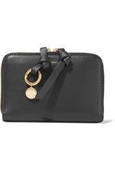 Chloe Alphabet Leather Wallet Black