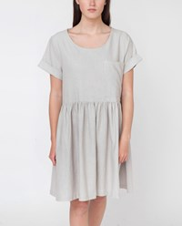 Beaumont Organic Silver Harper Cotton And Linen Dress