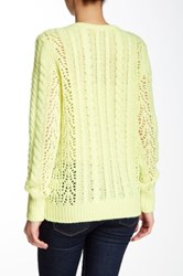 Equipment Amber Cable Knit Sweater Yellow