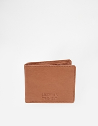 Jack Wills Lonsfield Leather Billfold Wallet Tan