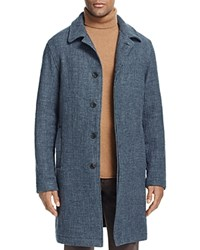 Billy Reid Rowan Linen And Cashmere Trench Coat Charcoal