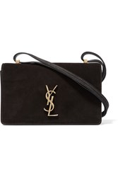 Saint Laurent Monogramme Dylan Small Suede And Leather Shoulder Bag Black