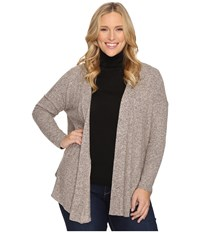 B Collection By Bobeau Curvy Plus Size Syden Relaxed Cardigan Dusty Rose Women's Sweater Pink