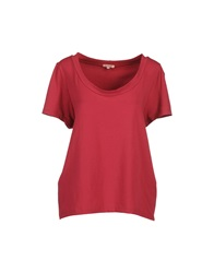 Rose' A Pois Short Sleeve T Shirts Garnet