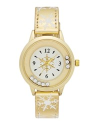 Charter Club Women's Gold Tone Glitter Strap Watch 32Mm Only At Macy's