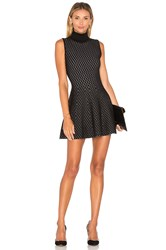 Lucy Paris Dorine Diamond Flare Dress Black