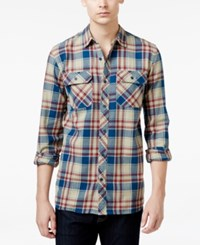 Tavik Men's Long Sleeve Vincent Plaid Shirt Clay
