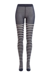 Sonia Rykiel Striped Tights Blue
