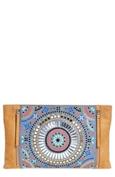 Vince Camuto 'Baily' Beaded Leather Clutch