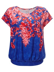 Phase Eight Alma Print Top Blue Red