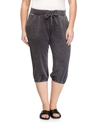 Marc Ny Performance Cropped Drawstring Jogger Pants Smoke