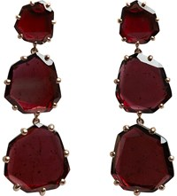 Annoushka 18Ct Rose Gold And Rhodolite Garnet Shard Triple Drop Earrings