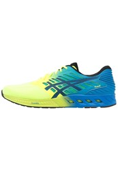 Asics Fuzex Neutral Running Shoes Safety Yellow Black Electric Blue Neon Yellow