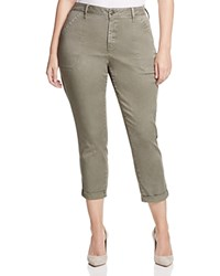 Nydj Plus Reese Relaxed Cuffed Crop Chino Pants Tabbouleh