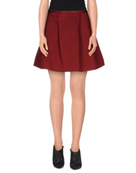 Tara Jarmon Mini Skirts Maroon
