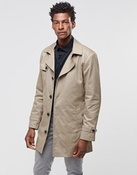 Selected Phill Trench Coat In Sand Tan Beige