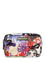 Dsquared Manga Printed Satin Toiletry Bag
