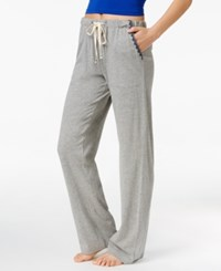 Lucky Brand Embroidery Trimmed Pajama Pants Dark Heather Grey