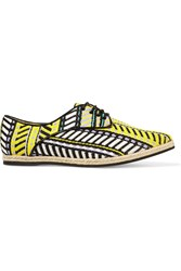 Just Cavalli Basketweave Lace Up Yellow