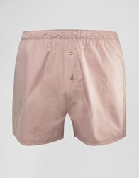 Asos Woven Boxers In Pink Pink Red