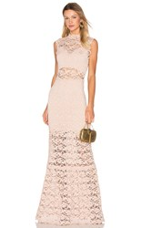 Nightcap Dixie Lace Cut Out Maxi Dress Blush