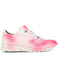 Lanvin Spray Paint Running Sneakers White