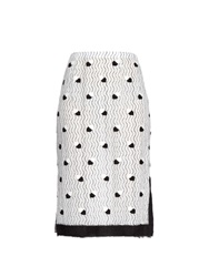 Marco De Vincenzo Bi Colour Lace Pencil Skirt