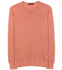 The Row Wool And Cashmere Sweater Orange